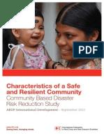 Comunity Reslience Characteristics Cruz Roja