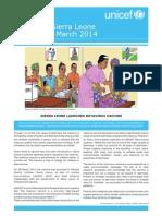 UNICEF Sierra Leone Update Jan-March2014