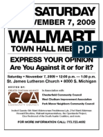 Walmart Townhall hosted by the Greater Chatham Alliance
