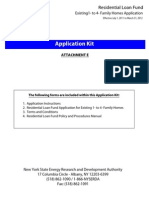 Residental Loan Fund Existing 1 to 4 Family Homes