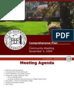 Dunwoody Village Comp Land Use Meeting of Nov 4, 2009