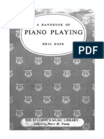 Handbook of Piano Playing