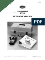 152873338 Colorimetre DR 890 Methodes D Analyses PDF
