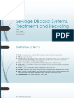 Sewage Disposal Systems, Treatments and Recycling