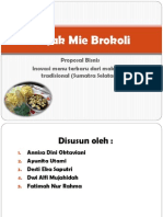 Rujak Mie Brokoli Presentasi