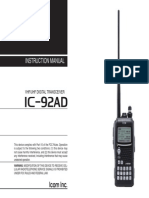 ICOM IC-92AD Instruction Manual
