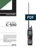ICOM IC-92AD Instruction Manual