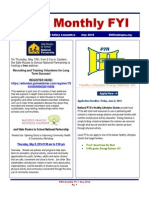May 2014_Ohio PTA Health, Welfare, and Safety Monthly FYI