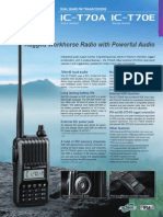 ICOM IC-T70A Brochure