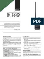ICOM IC-T70A Instruction Manual