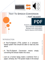 Text to Speech Conversion
