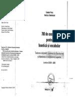 700 de Exercitii Pentru Fonetica Si Vocabular Carmen Pavel Gratiela Dumitrache