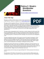 Patricia Wrede Worldbuilding