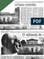 CARDOSO, F. H. Gilberto Freyre - Um Verdadeiro Criador