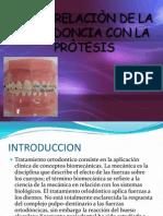 Interrelacion de La Ortodoncia Con La Protesis