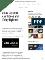 Fancy Lightbox Overlay