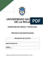 Prepro 2014-Formulario de Presentacion de Proyectos de Investigacion