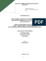 Mecanisme Politice Şi Juridice Privind Asigurarea Dreptului La Siguranţă a Cetăţeanului