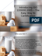 Introducing ISO 22000 - The Easy Way to Certification