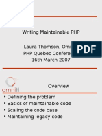 Writing Maintainable PHP