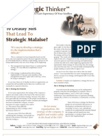 Strategic Thinker Issue 4.2009 - The 10 Deadly Sins That Lead To Strategic Malaise