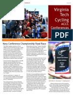 Newsletter VT Cycling Conferences Recap
