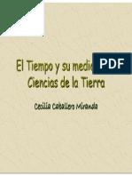 El tiempo y su medicion en Ciencias de la Tierra (Cecilia Caballero Miranda)