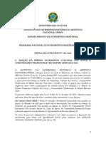 Edital PNPI - Pr-mio Patrim-nio Cultural Dos Povos e Comunidades Tradicionais de Matriz Africana
