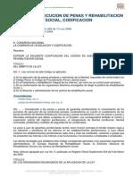 Codigo de Ejecucion de Penas y Rehabilitacion Social, Codifi