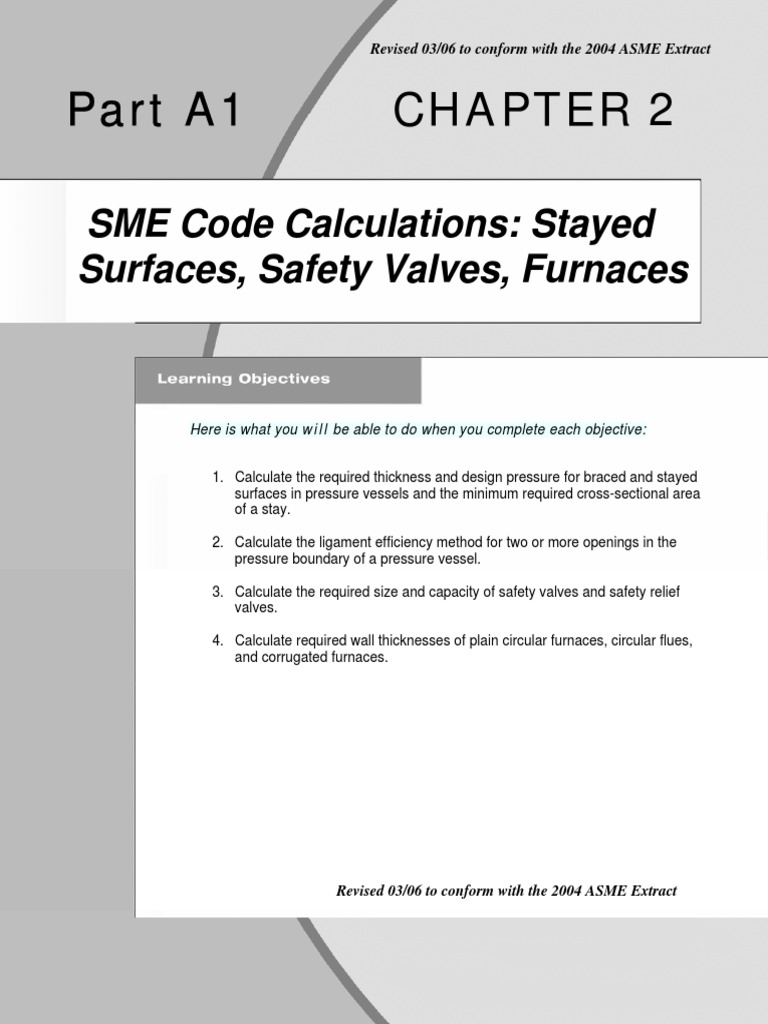 Part A1 Chapter 2 - ASME Code Calculations Stayed Surfaces Safety