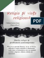 Religia Și Viața Religioasă în secolul al XX-lea