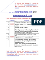 Real TOEFL IBT Speaking Test Questions From March 2005 Up to Now
