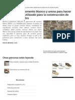 Cómo Mezclar Cemento Blanco y Arena Para Hacer Mortero Blanco Utilizado Para La Construcción de Viviendas de Piedra _ EHow en Español