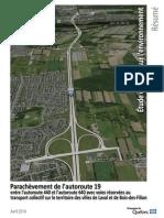 Résumé de l'étude d'impact sur le parachèvement de l'A-19