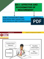 Bab 6 Affective and Psychomotor of Measurement