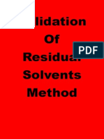 Validation of Residual Solvents Method
