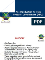 Lecture 01 and 02-Introduction to New Product Development