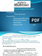 Chemical Equilibrium .Presentation