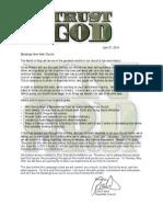 trust god letter