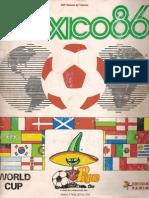 Álbum Copa Del Mundo Mexico 86 - FL