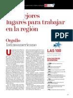 Informe Especial - Los Mejores Lugares Para Trabajar en La Región
