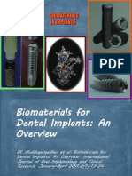 Biomaterials for Dental Implants