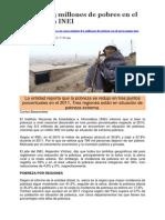 Artículo 8.3 Millones de Pobres en Peru