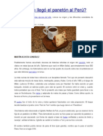 Historia Del Panetón