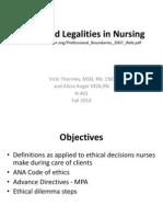 Ethics Legalities