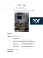 Medición de La Constante Dieléctrica Del Material FR4 y S 11