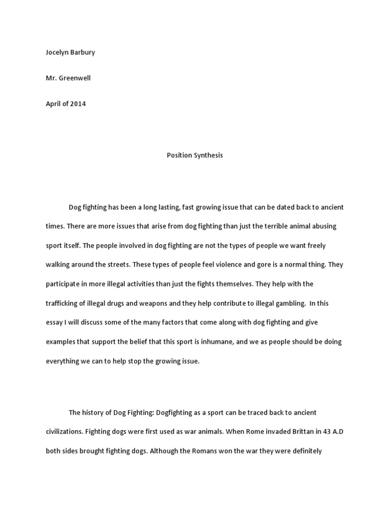 Best English Essay  Business Ethics Essays also Healthy Diet Essay Jocelyn Barbury Position Synthesis  Dogs  Animals And Humans Essay About Health