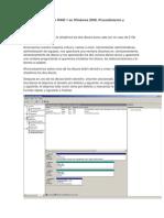 Crear Un RAID 0 y Un RAID 1 en Windows 2008