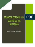 Unidad 4 Salvador Córdova y La Guerra de Los Supremos - Mayra Alejandra Bravo