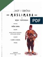 Život i običaji muslimana u Bosni i Hercegovini - Antun Hangi